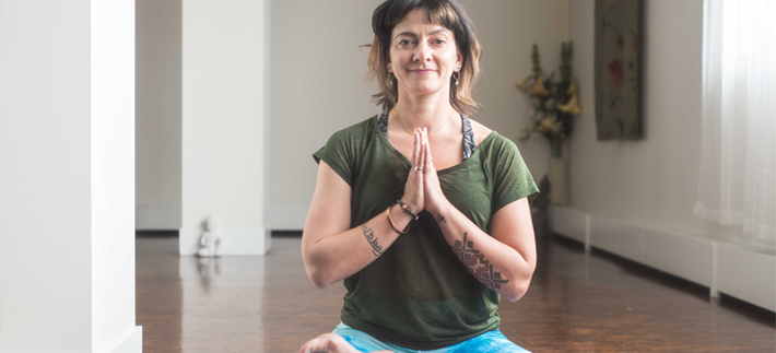 Jenelle Kitto, yoga instructor at Yosa Santosha Calgary portrait